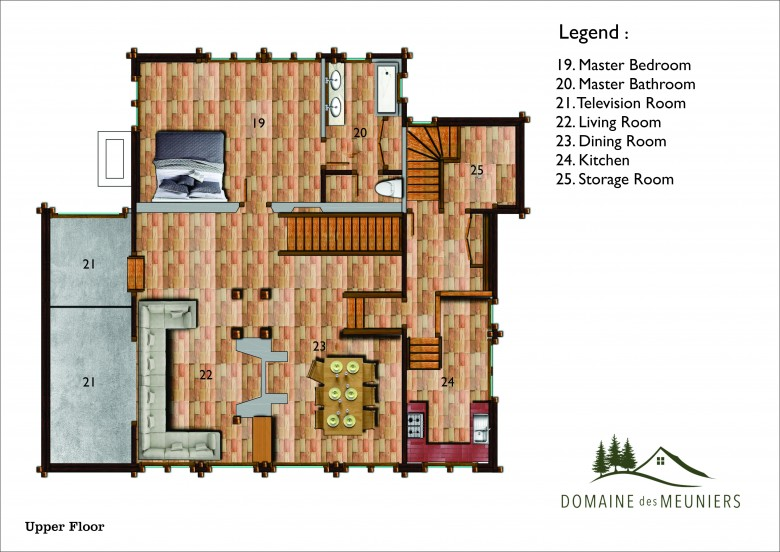 House plan - Upper Floor